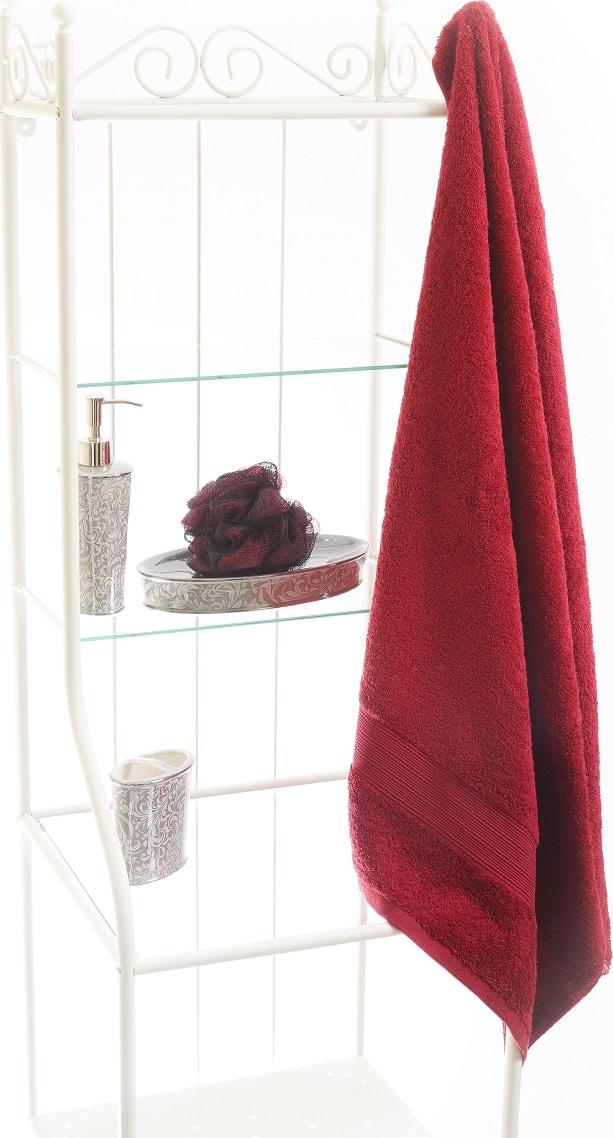 grace ТТ-9101-05-660 Полотенце махровое банное красное, 100% хлопок, 70 х 140