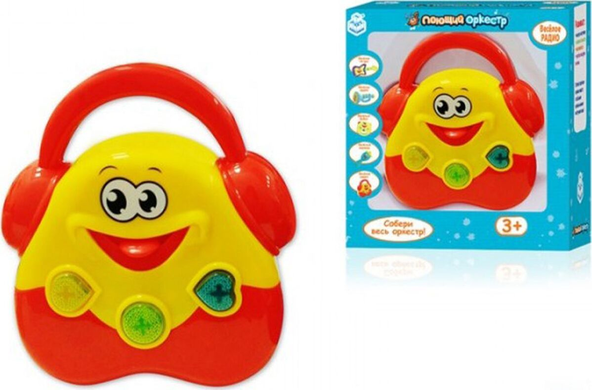 Музыкальная игрушка 1TOY Поющий оркестр Радио, Т5894018х17х5см магнитофон 1toy поющий оркестр