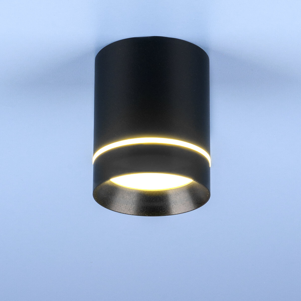 DLR021 9W 4200K / Светильник светодиодный стационарный черный матовый