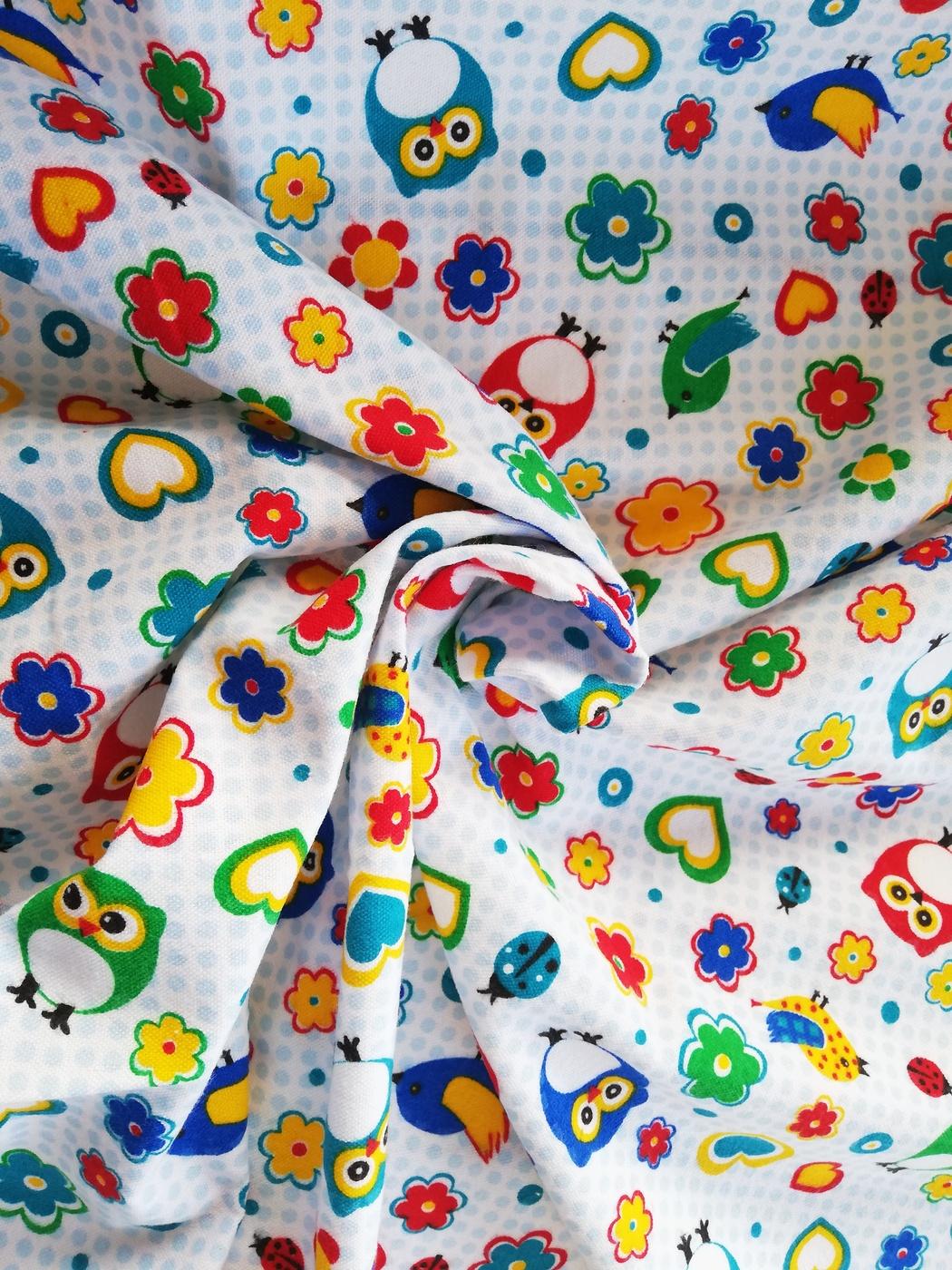 Ткань Разноцвет Фланель 90*100 см