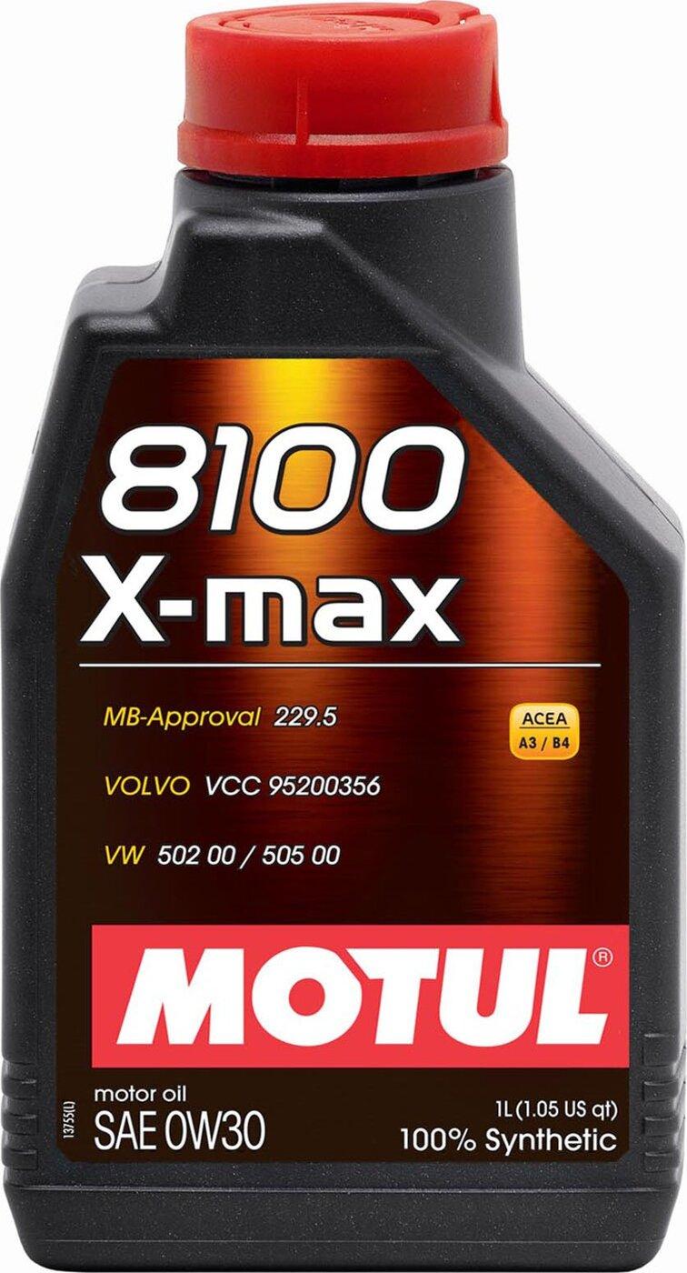 Моторное масло MOTUL 8100 X-max, синтетическое, 0W-30, 1 л 106569