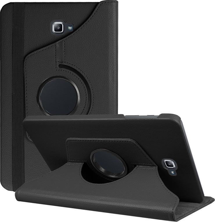 Чехол-подставка MyPads для Asus Memo Pad 10 ME102A на пластиковой основе кожаный поворотный роторный оборотный с трансформацией в подставку черный