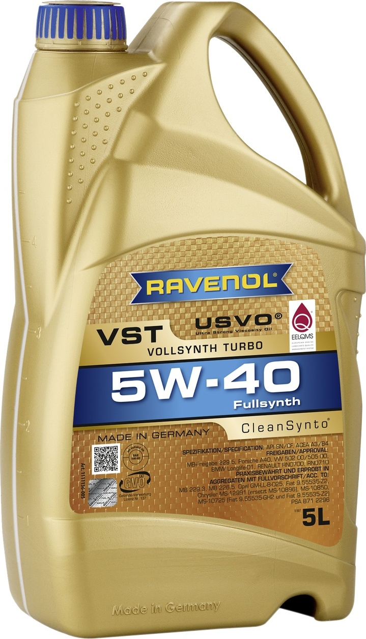 Моторное масло RAVENOL VST SAE 5W-40 (5л)