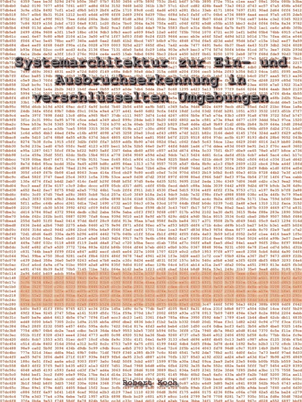 Robert Koch. Systemarchitektur zur Ein- und Ausbruchserkennung in verschlusselten Umgebungen