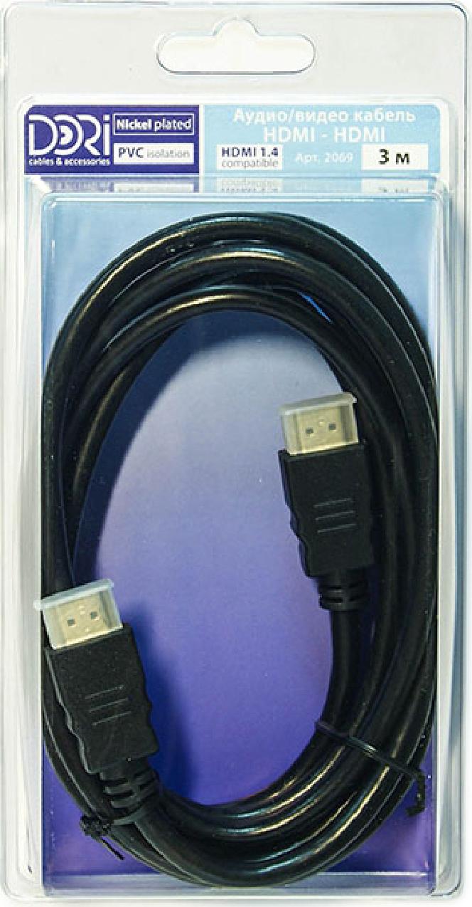 Кабель HDMI-HDMI L-3M 2069
