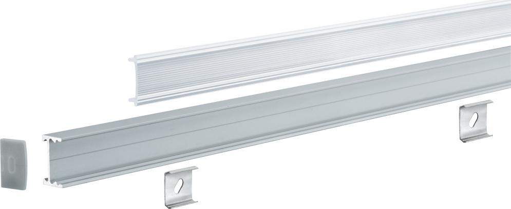 Профиль для светодиодной ленты FN Square Profil Dif 100cm Alu elox Sat