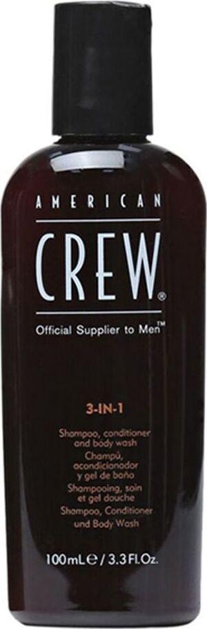 American Crew Tea Tree Шампунь, Кондиционер и Гель для душа 3 в 1 Classic 100 мл