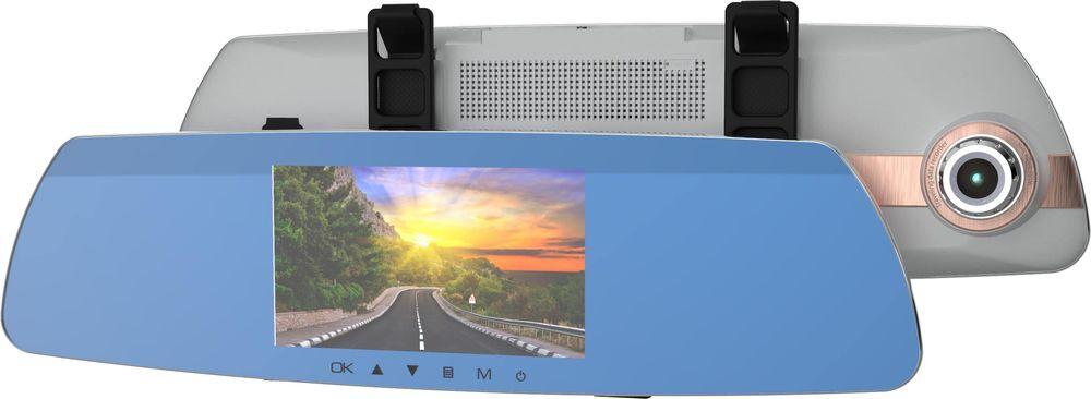 Видеорегистратор-зеркало Ritmix AVR-383 Mirror, белый