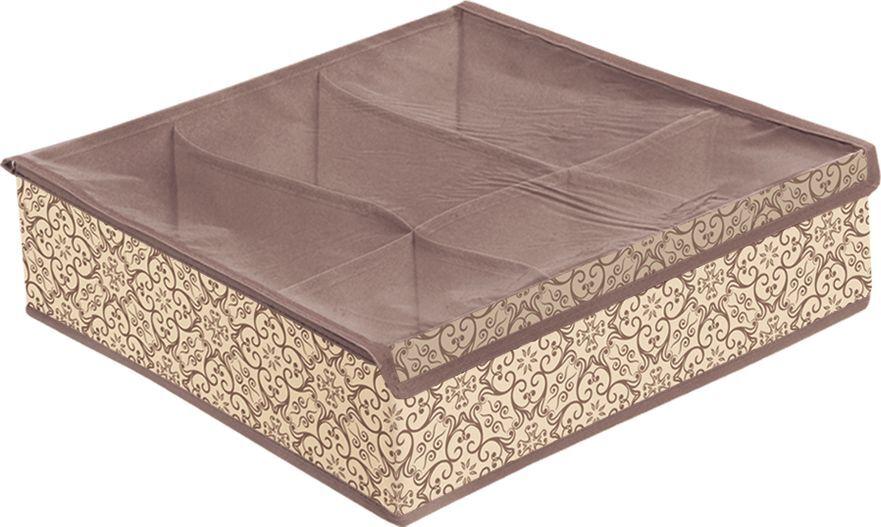 Органайзер для вещей Prima House, В-151, бежевый, коричневый, 40 х 40 х 13 см
