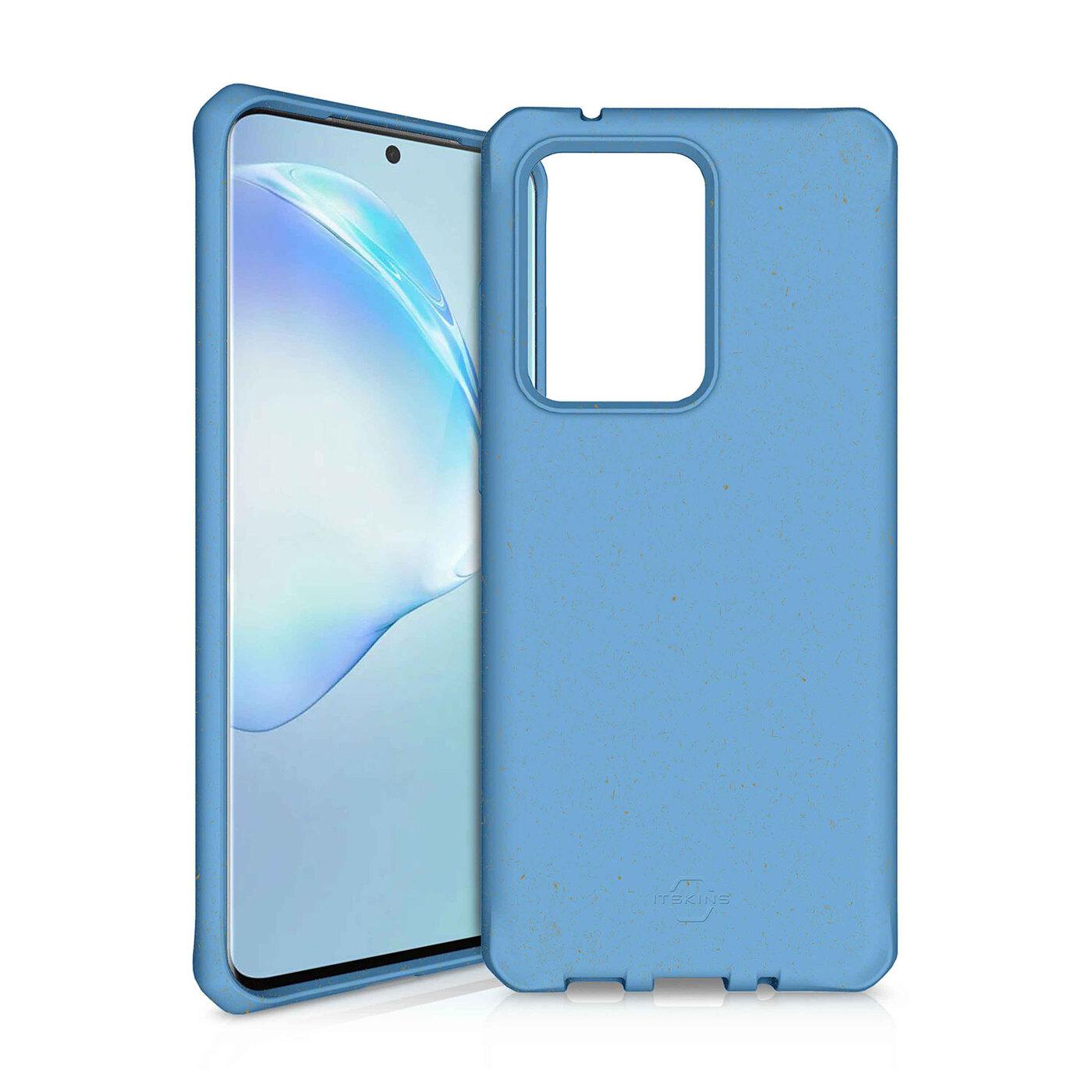 Чехол-накладка ITSKINS FERONIA BIO для Samsung Galaxy S20 Ultra, голубой