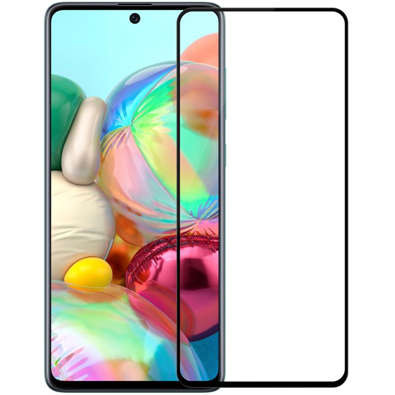 Защитное стекло 5D Tempered Glass для Samsung Galaxy A71 черное
