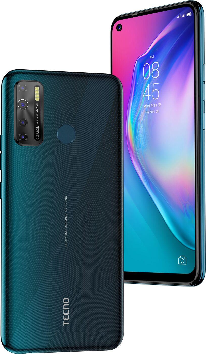смартфон tecno camon 15  4/64gb, темно зеленый
