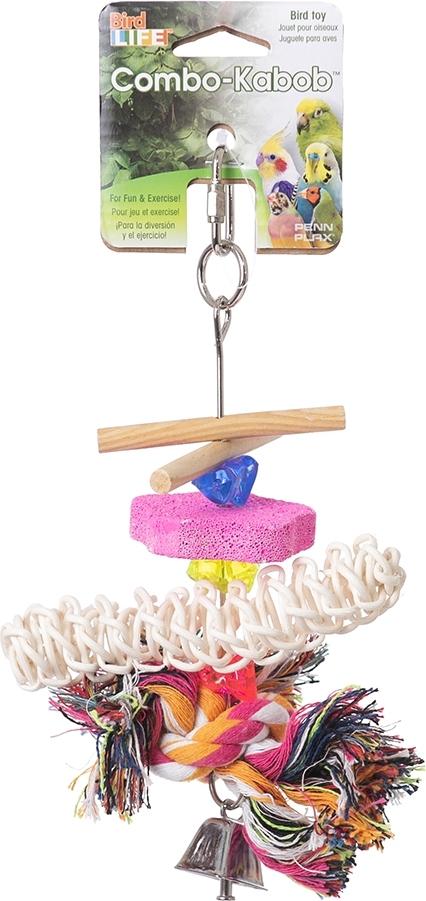 """игрушка для птиц penn-plax """"подвеска"""", комбинированная, малая"""