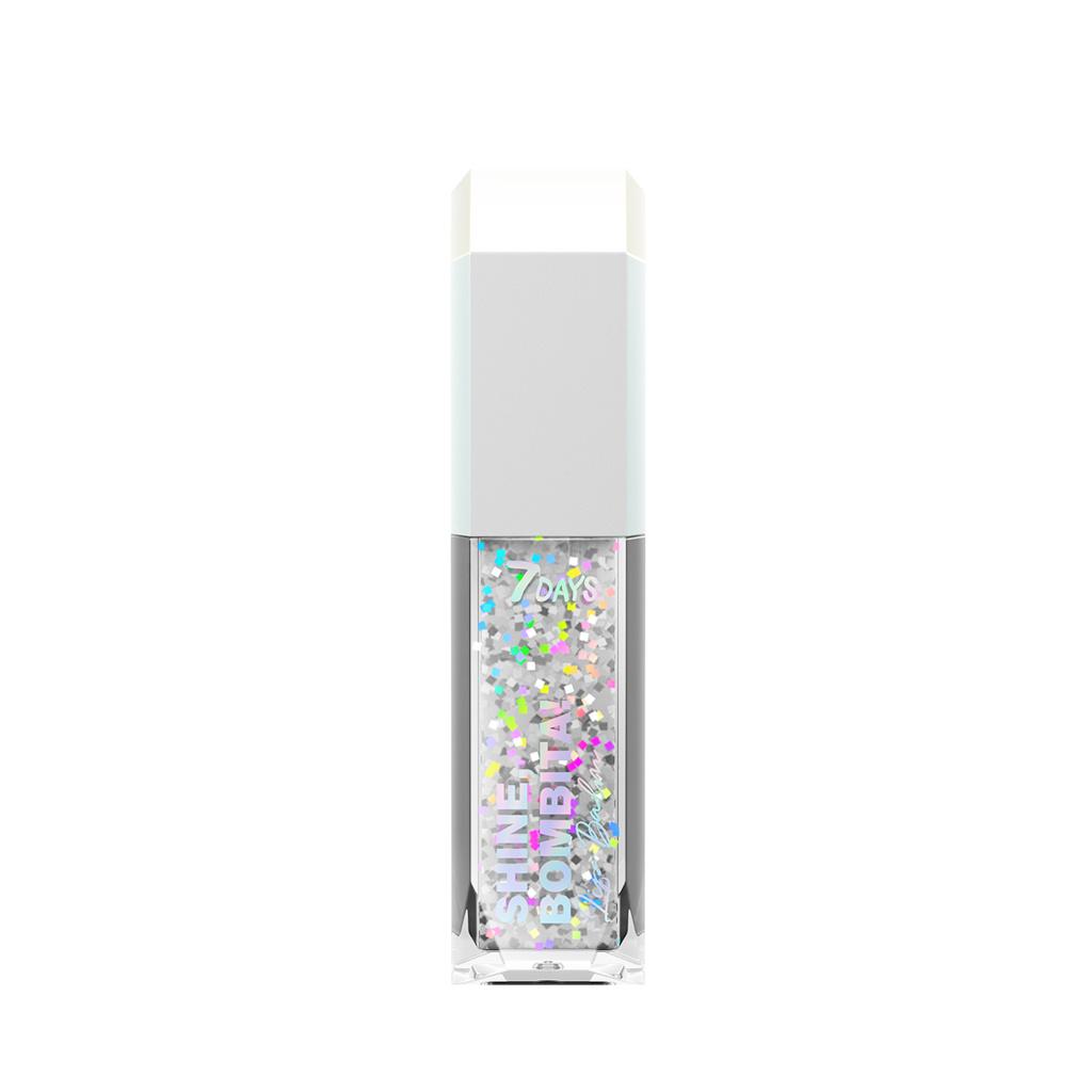 7DAYS Голографический блеск для губ SHINE, BOMBITA! / 302 Icicle, 5 мл #1