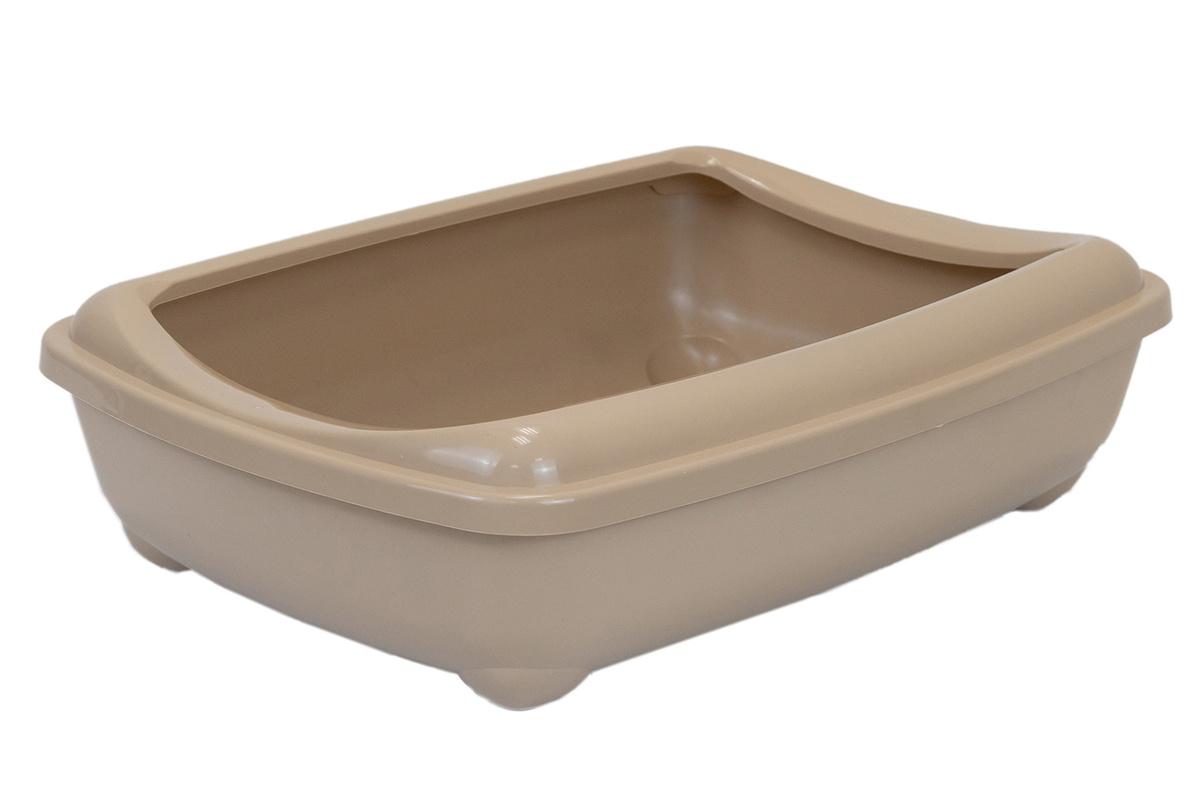 Туалет для кошек PetTails глубокий, большой (под наполнитель) 50*38*13см, бежевый  #1