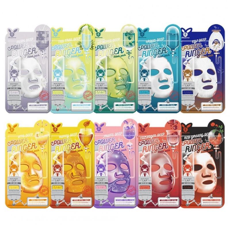 Elizavecca Набор ассорти тканевых масок для лица Deep Power Ringer Mask Pack, 10 шт. по 23 мл.  #1