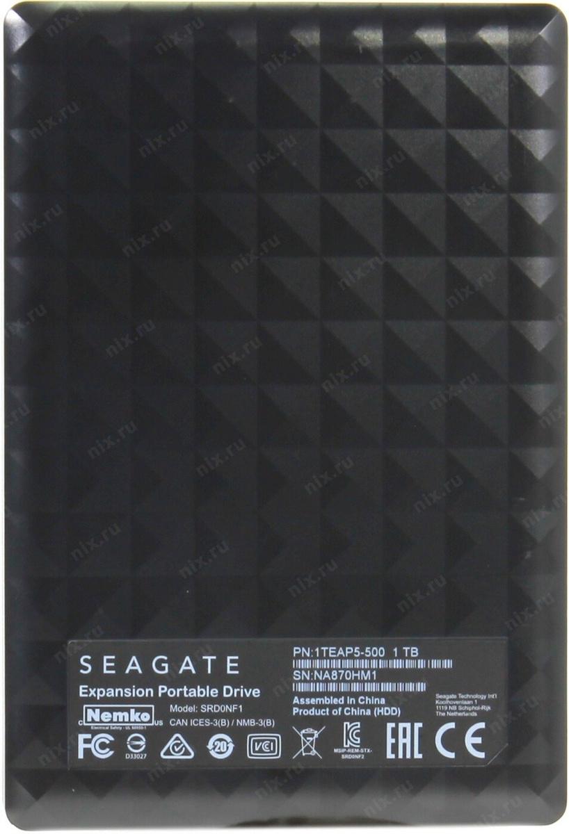 1 ТБ Внешний жесткий диск Seagate 1Tb Expansion Black (STEA1000400) (STEA1000400), черный  #1