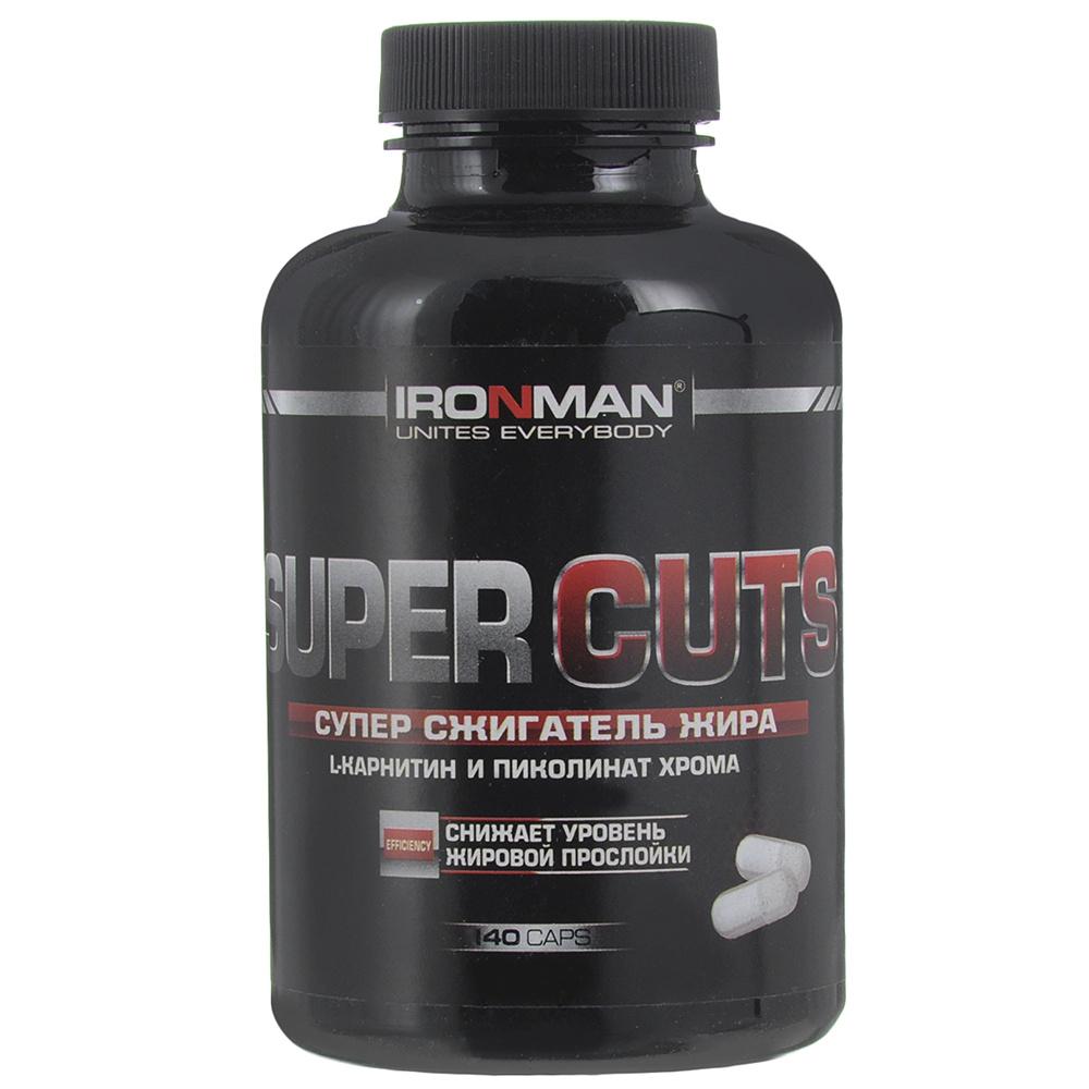 Жиросжигатель Ironman Super Cuts c L-Карнитином и Пиколинатом Хрома, 140 капсул  #1