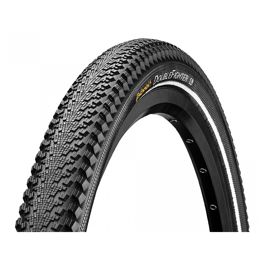 Wire 700 x 35 Clincher Continental Double Fighter III Tire Black
