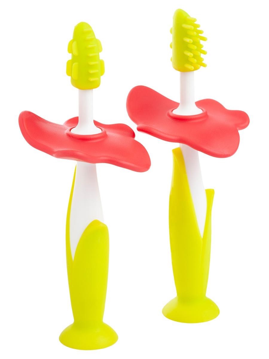 Щетки детские зубные массажер прорезыватель для десен FLOWER от ROXY-KIDS, 2 шт  #1