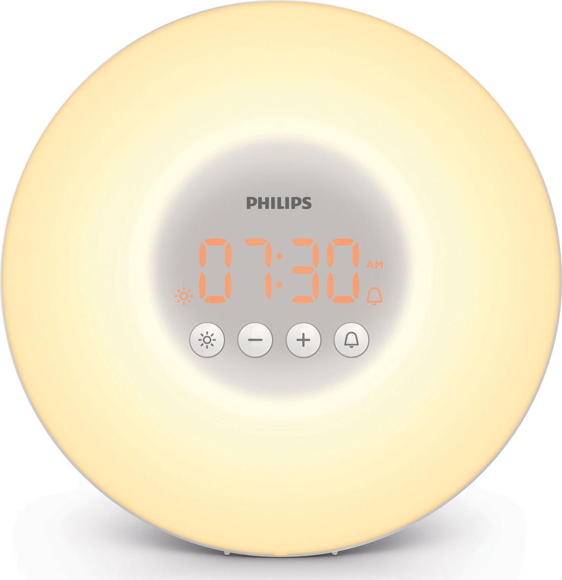 Световой будильник Philips Wake-up Light HF3500/70, белый, серый philips hf3520 70 wake up light световой будильник