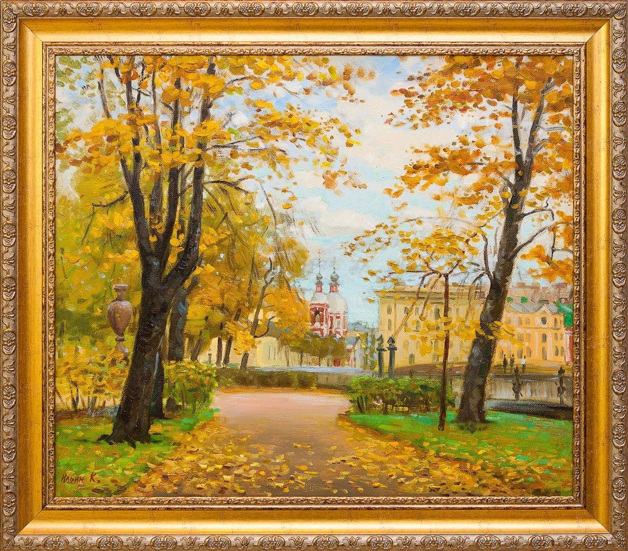 Картина маслом В Летнем саду Ильин картина маслом утро ильин
