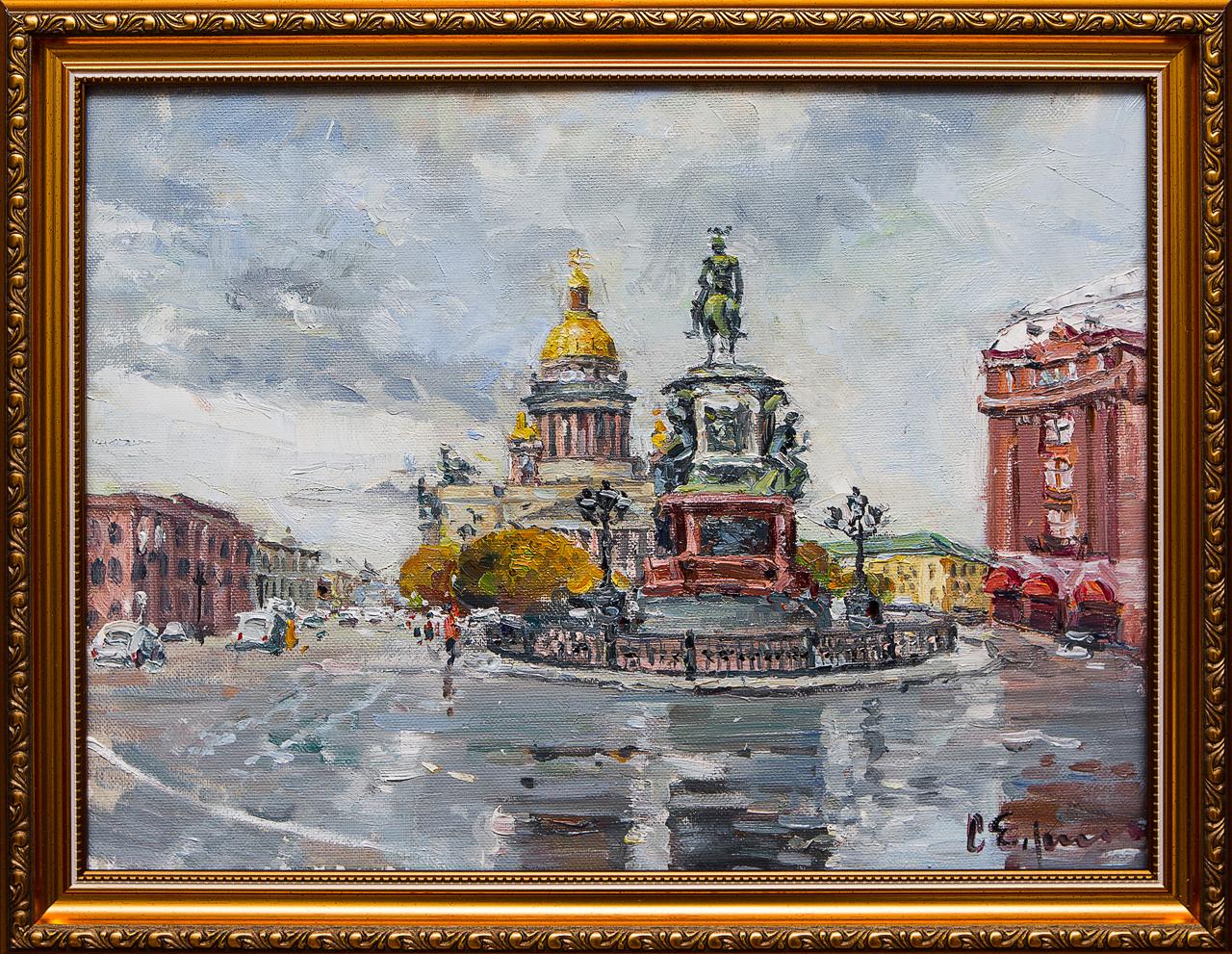 Картина маслом Исаакиевская площадь Ефименко картина маслом соперники ефименко