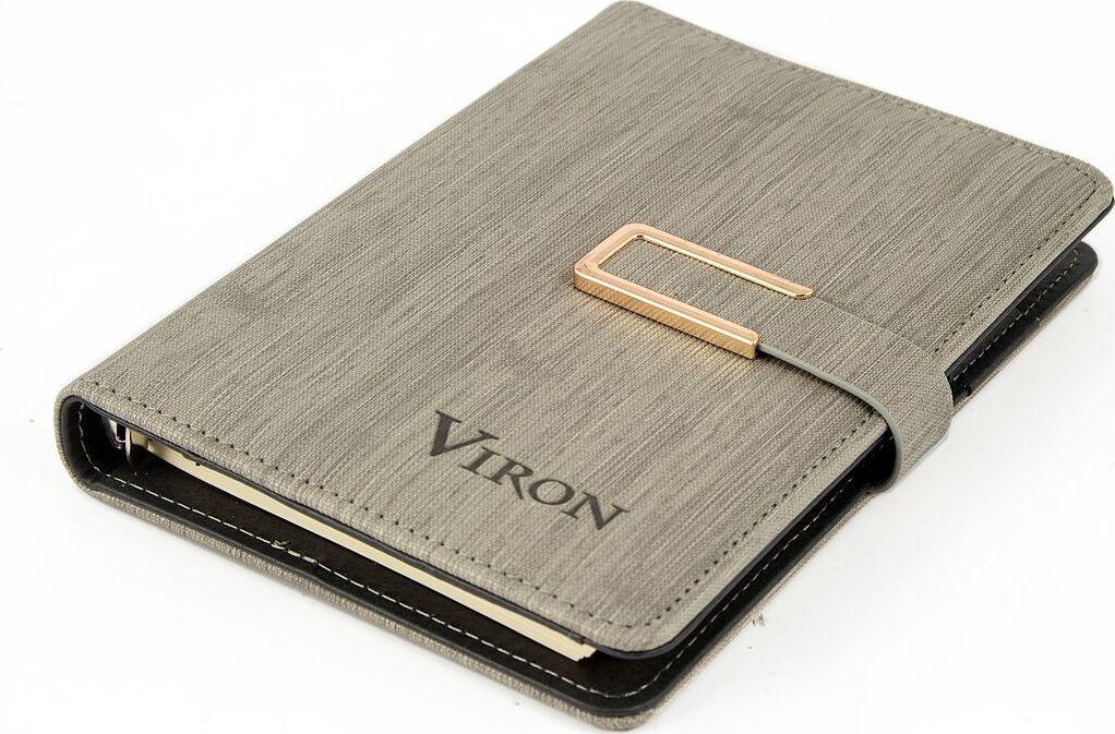 Ежедневник Viron, недатированный, 82724, серый, 80 листов