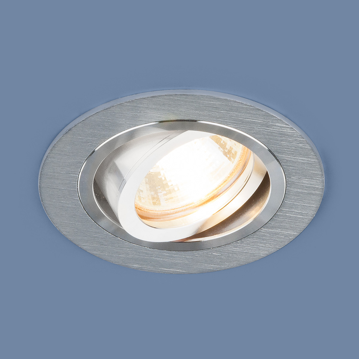 Встраиваемый светильник Elektrostandard Алюминиевый точечный 1061/1 MR16 SL, G5.3 встраиваемый светильник elektrostandard 1061 1 mr16 sl серебро 4690389095498