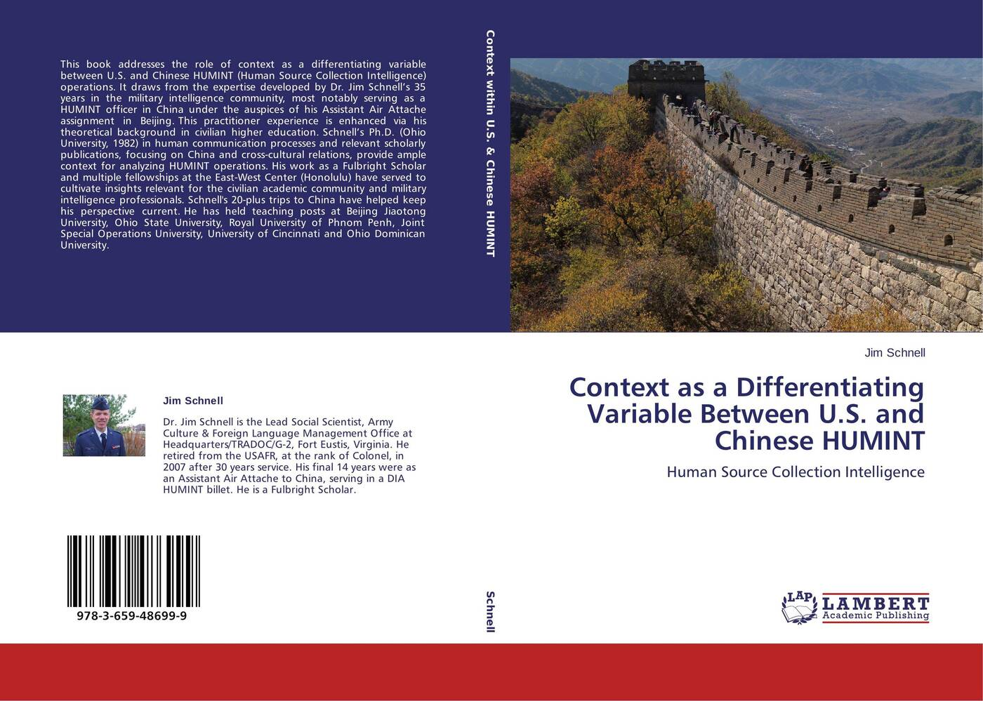 цены на Jim Schnell Context as a Differentiating Variable Between U.S. and Chinese HUMINT  в интернет-магазинах