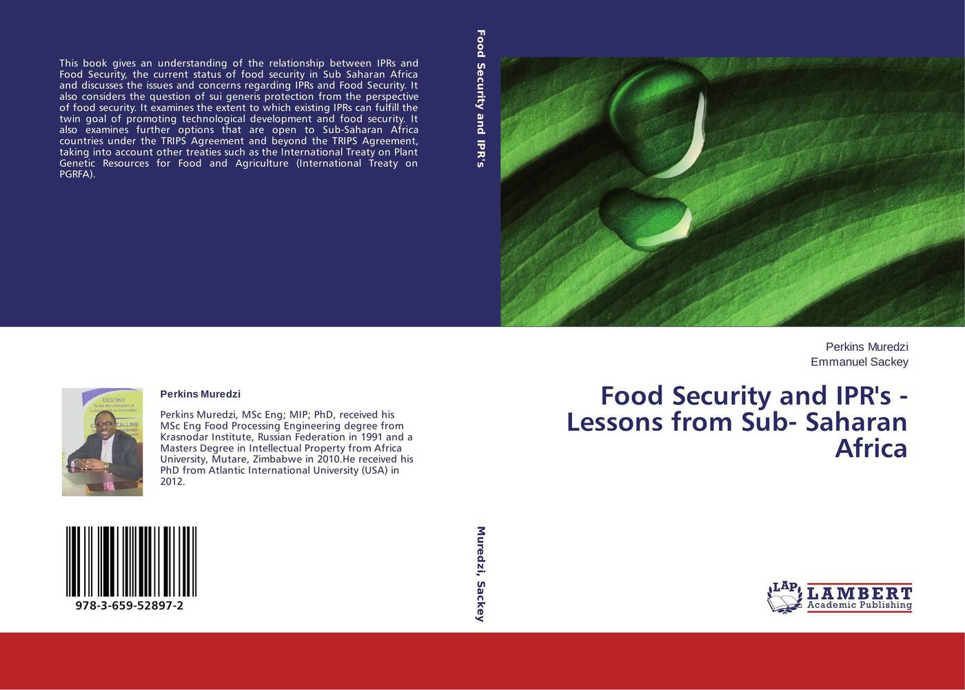 Perkins Muredzi and Emmanuel Sackey Food Security and IPR's - Lessons from Sub- Saharan Africa wayne martindale global food security and supply