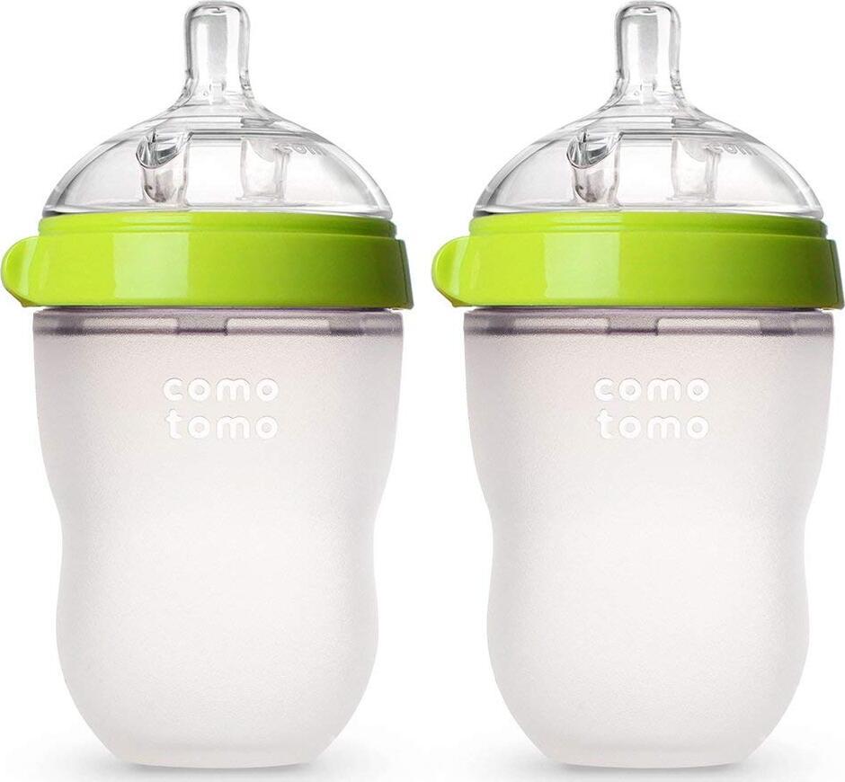 Comotomo Набор из 2х бутылочек для кормления - Зеленые (250 мл)