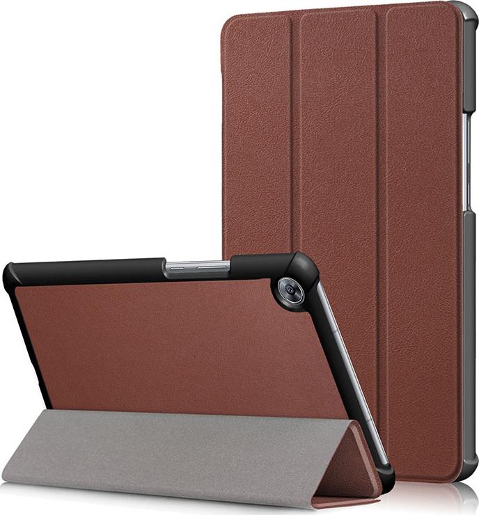 Чехол-обложка MyPads для Acer Iconia One B3-A10 / B3-A11 10.1/ Android 5.1 NT.LB6EE.003 MediaTek MT8151 1.7 GHz тонкий умный кожаный на пластиковой основе с трансформацией в подставку коричневый
