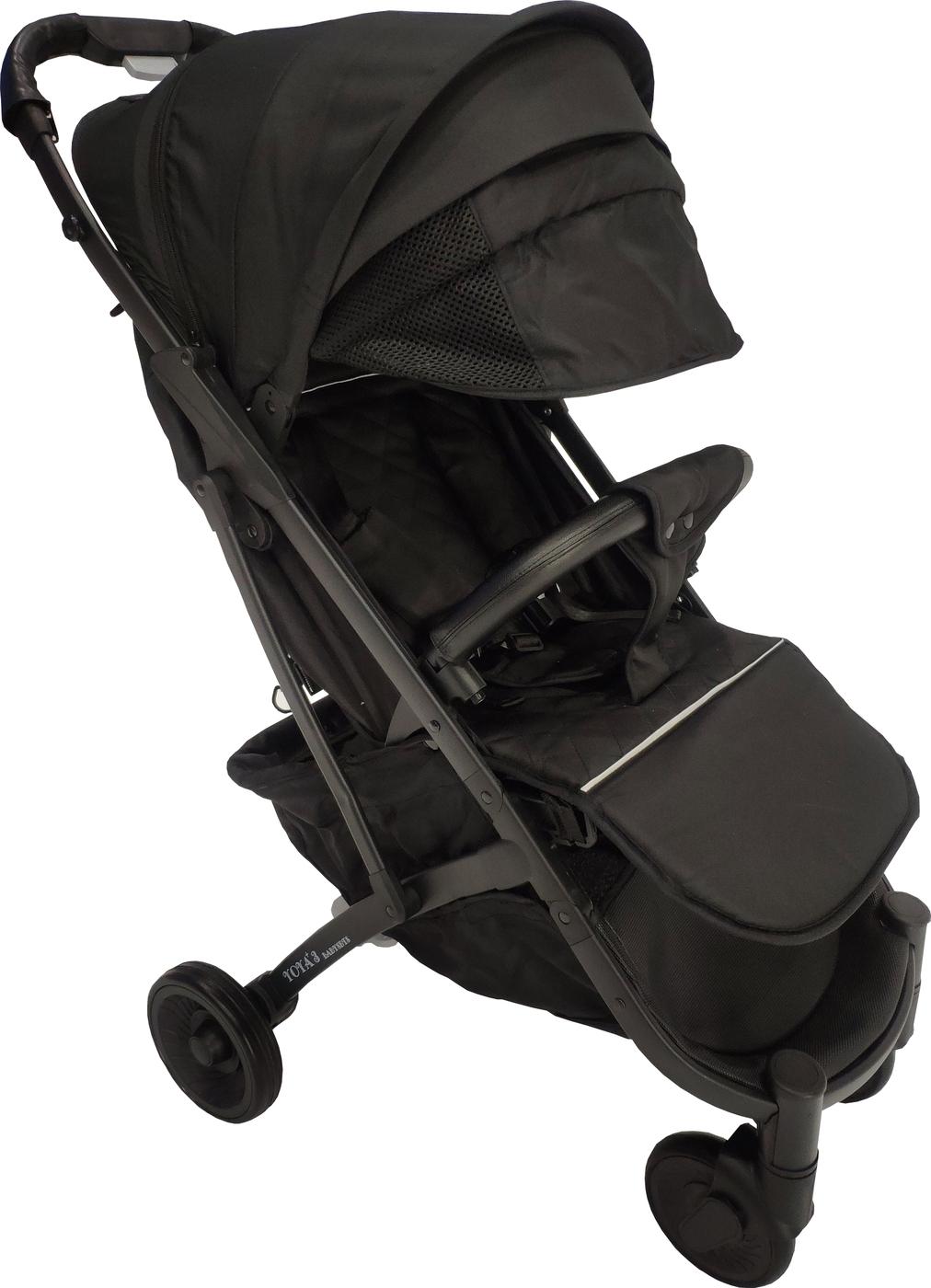 Детская коляска YOYA PLUS 3 Exclusive Черная черная рама