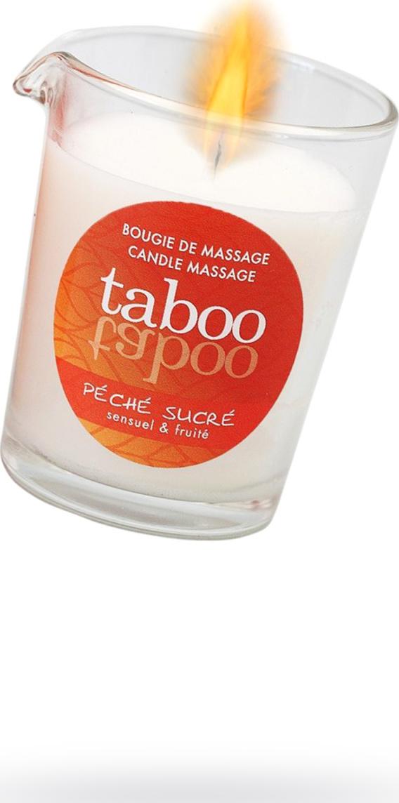 Массажное аромомасло RUF Taboo Peche sucre с афродизиаками для женщин, возбуждающим эффектом и манящим ароматом сладкого персика, 60 г.