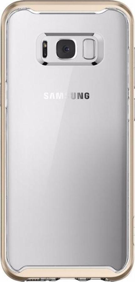 Чехол-накладка Spigen Neo Hybrid Crystal для Samsung Galaxy S8+, прозрачный, золотой аксессуар чехол spigen для samsung galaxy note 8crystal hybrid champagne 587cs21840