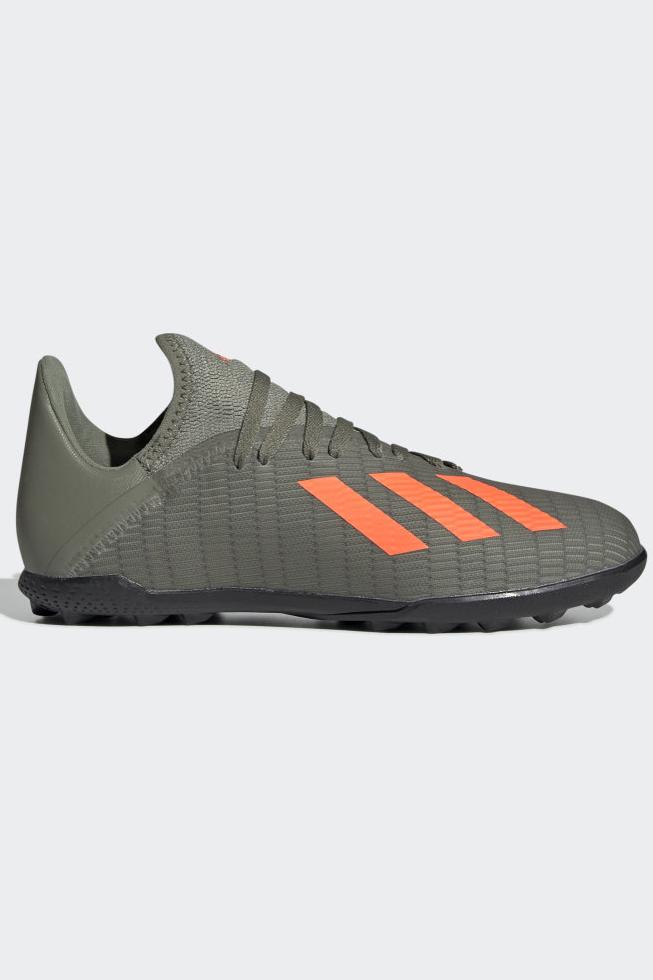 Бутсы для мальчика Adidas X 19.3 Tf J, цвет: зеленый. EF8375. Размер 5 (37)