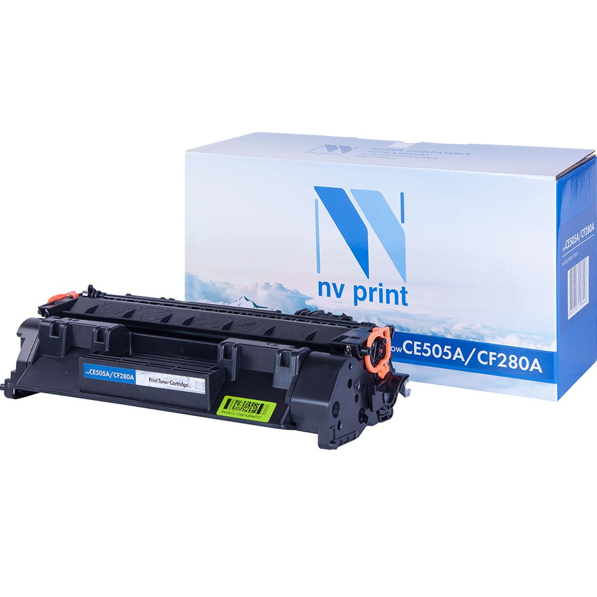 Тонер-картридж NV-CF280A/CE505A, черный, для лазерного принтера, совместимый