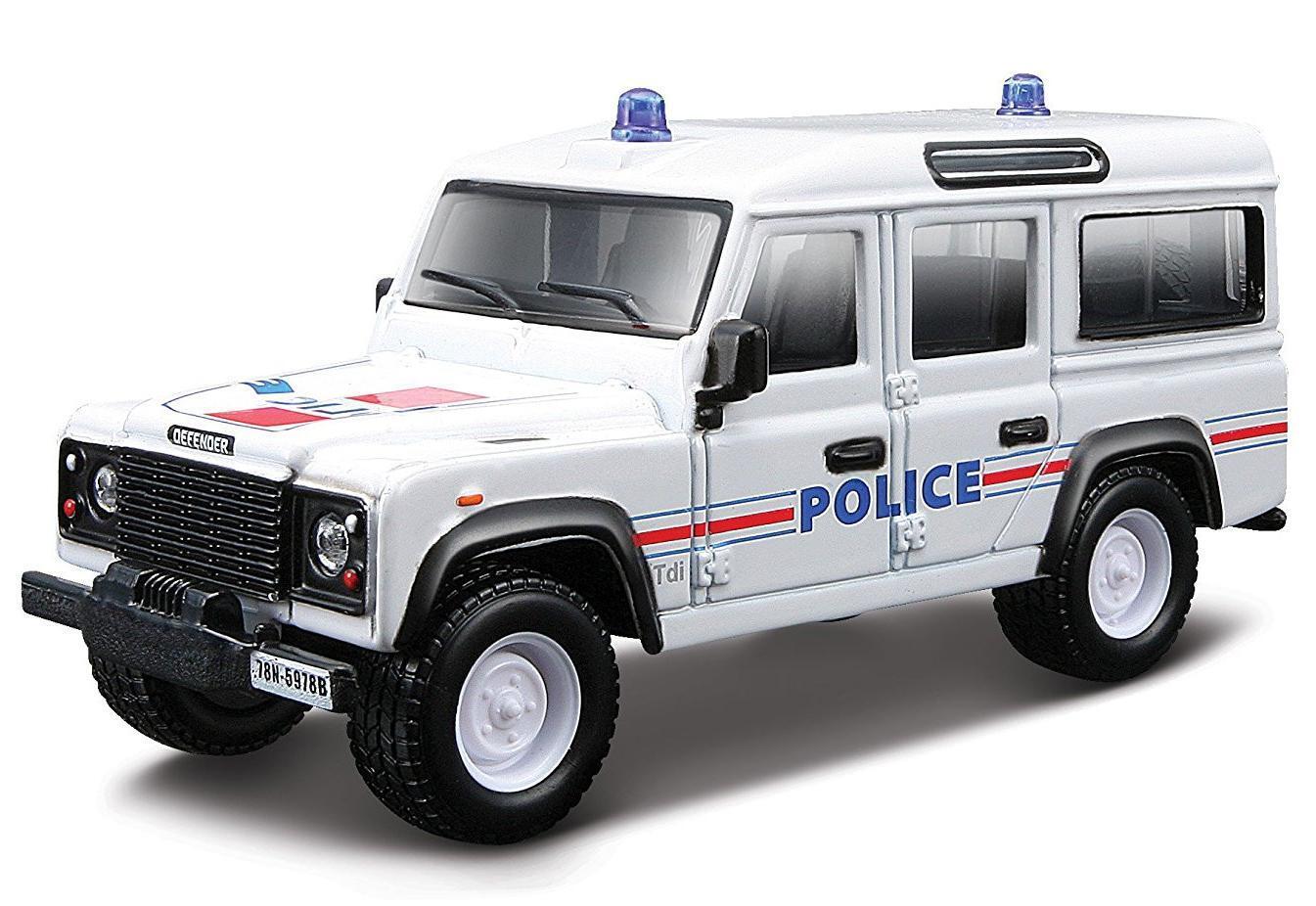 "Bburago Машинка полицейская ""Emergency Land Rover Defender 110 1/50 "" 18-32003"