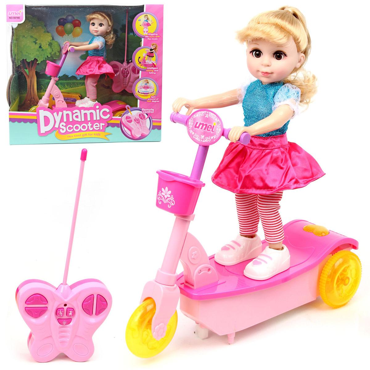 Картинка кукла на самокате