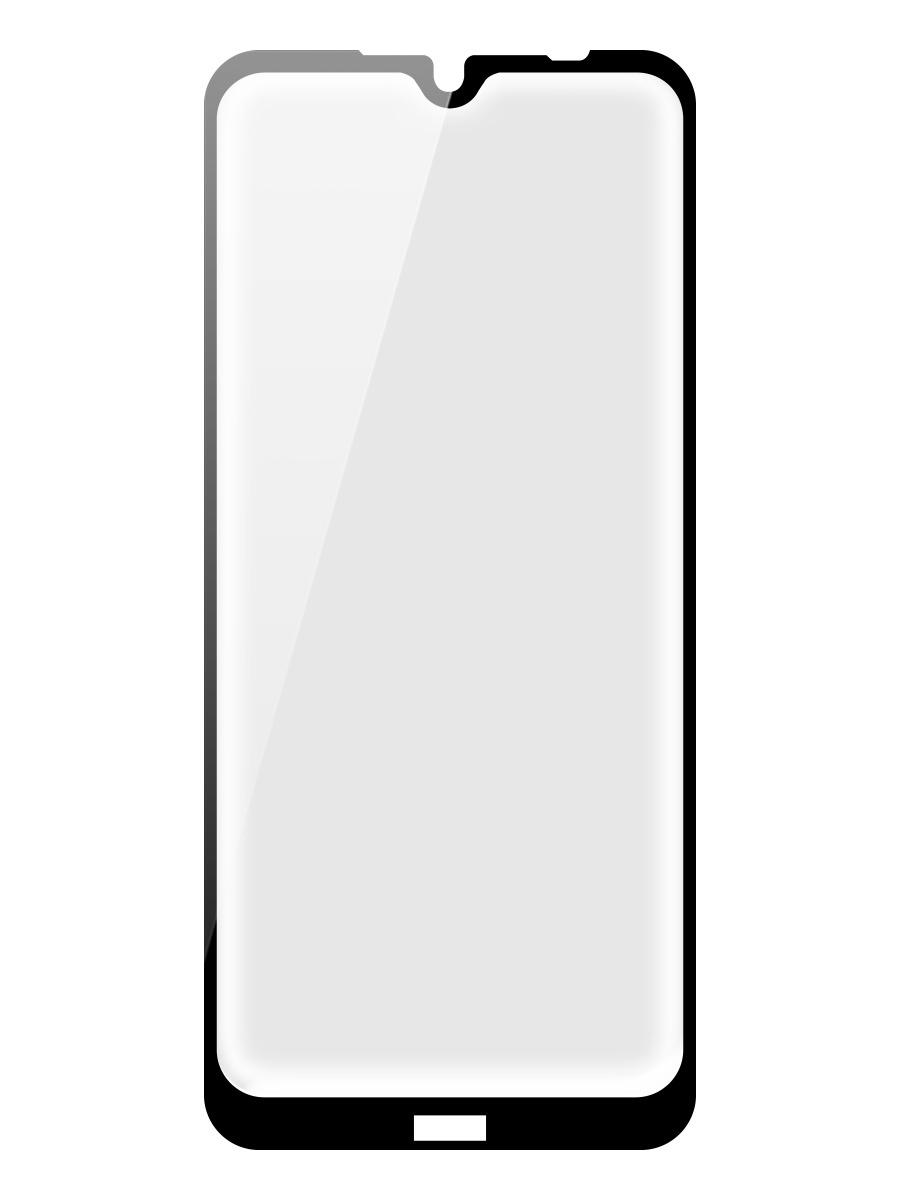 Защитное стекло Onext для телефона Xiaomi Redmi Note 8T, full glue, с рамкой черное (2020)
