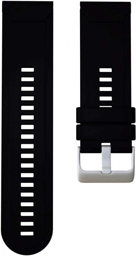 Ремешок силиконовый GSMIN Silicone для Garmin Fenix 3 / 3 HR / 3 Sapphire / Quatix 3 / 5X / 5X Plus / D2 Bravo / Tactix Bravo / Descent Mk1 (Черный)