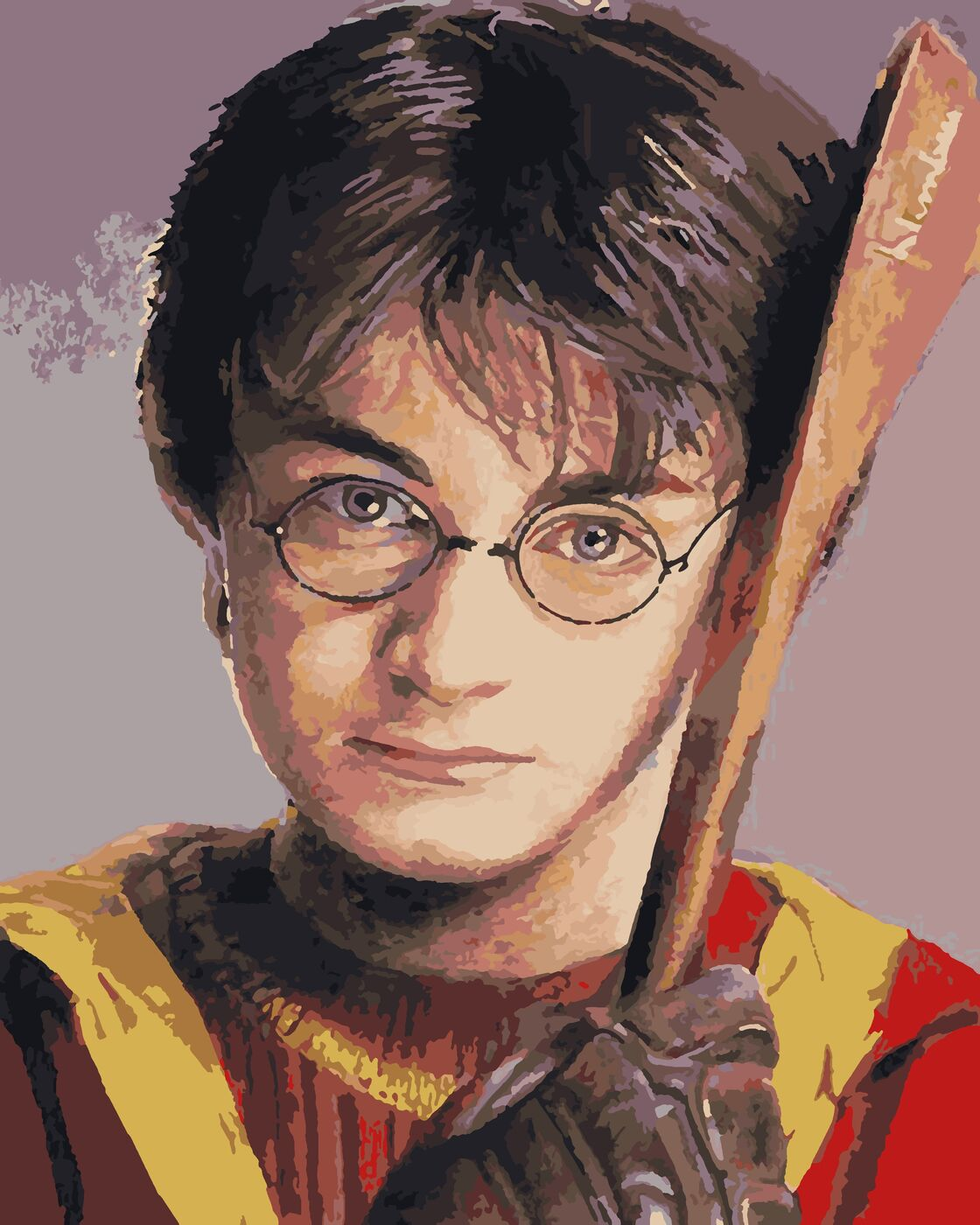 Картина по номерам Гарри Поттер с битой, 40 х 50 см ...