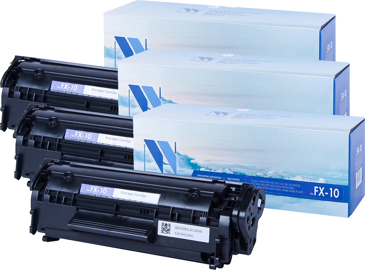 Комплект картриджей NV Print FX10, черный, для лазерного принтера, совместимый