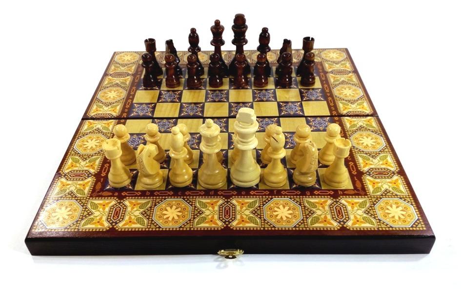 шахматы Bona Farbo 3 в 1 Мозаика