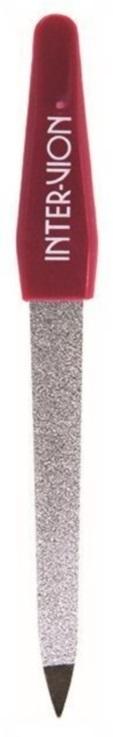 Inter-Vion Сапфировая маленькая пилочка для ногтей в чехле, 12,5 см