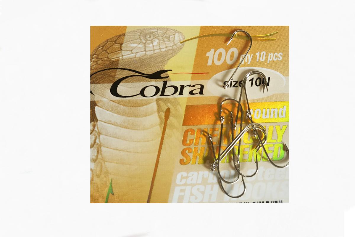 Крючок рыболовный Кобра №10N Cobra Round 100gty 10 штук в упаковке