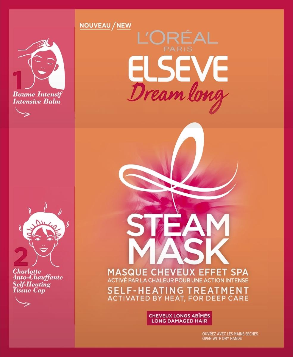 Паровая маска L'Oreal Paris Elseve Длина мечты, для длинных поврежденных волос, с кератином и касторовым #1