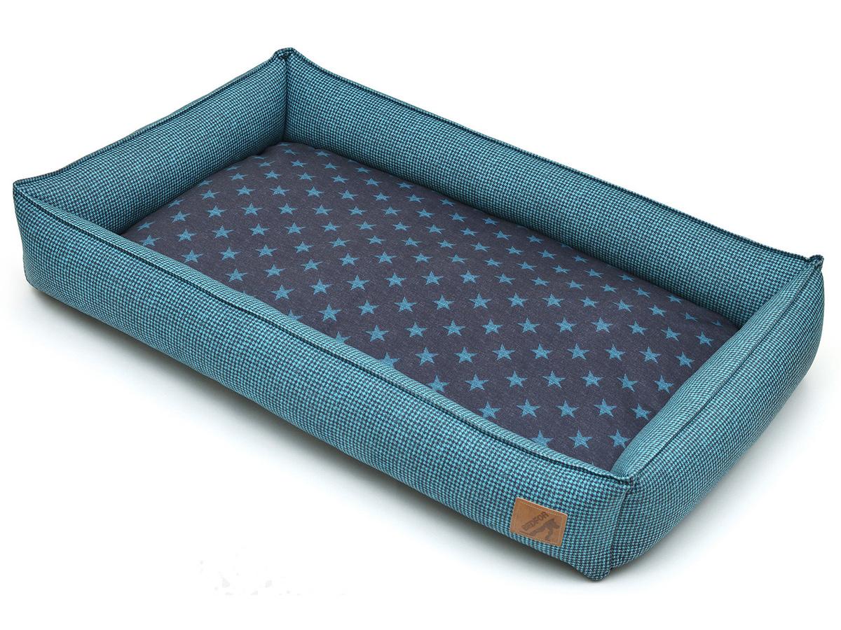 Лежанка для животных Bedfor со съемными чехлами, цвет Бирюзовый, размер 70 х 50 см  #1
