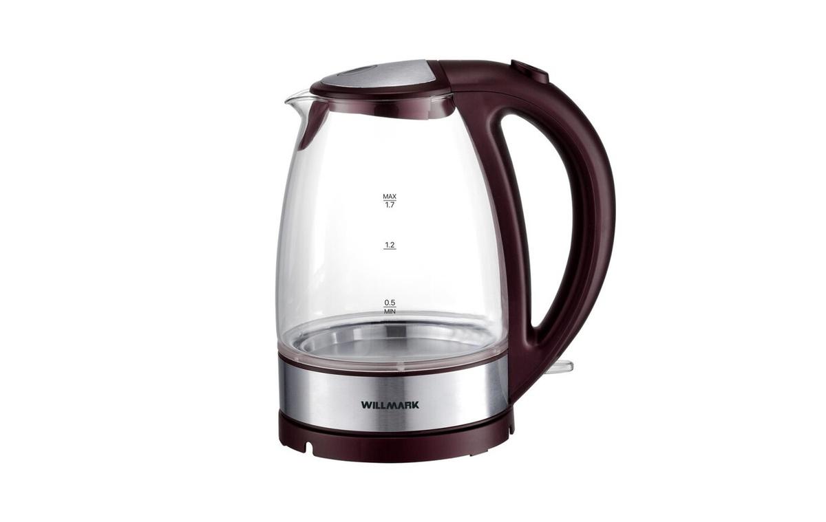 Электрический чайник WILLMARK WEK-1734G, бордовый #1